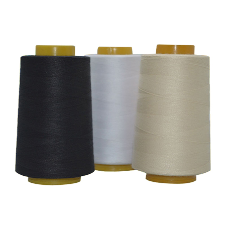 Cotton/Polyester Core Thread, Cotton Wrapped Polyester Core
